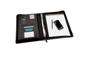 ZIPPED MEETING FOLDER MONOLITH A4